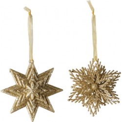 Christmas Decoration Deco da appendere stella/fiocco neve set 2 - Villeroy & Boch