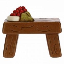 Tavolo con frutta presepe classico, naturale - Thun