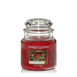 Red Apple Wreath Giara Media - Yankee Candle