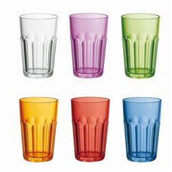 Set 6 bicchiere molato alto multicolor - Guzzini
