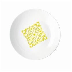 Piatto fondo 'le maioliche' giallo acido - Guzzini