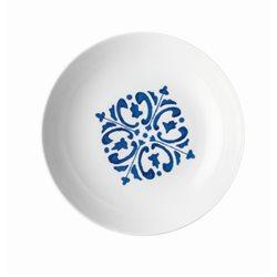 Piatto fondo 'le maioliche' blu mediterraneo - Guzzini