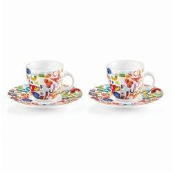Set 2 tazzine caff? alphabet multicolor - Guzzini