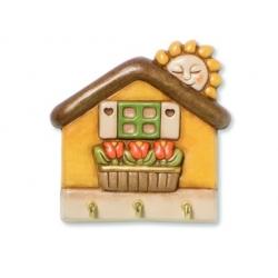 App.chiavi casetta con tulipani - Thun