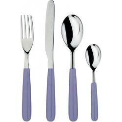 All-Time, servizio di posate 24 pezzi, purple grey - Alessi