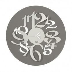 Orologio Focus con numeri grandi effetto tridimensionale, Fango e Avorio - Arti e Mestieri