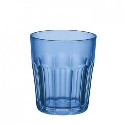 Bicchiere molato basso (San) 'Happy Hour' blu mediterraneo - Guzzini