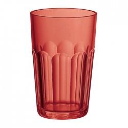 Bicchiere molato alto (San) 'Happy Hour' rosso - Guzzini
