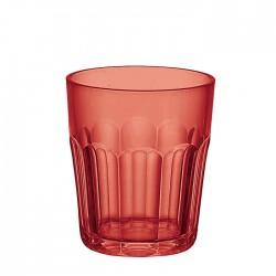 Bicchiere molato basso (San) 'Happy Hour' rosso - Guzzini