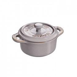Mini cocotte in ceramica grigio anticato Cm. 10 - Staub
