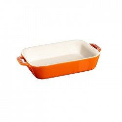 Pirofila in ceramica arancio Cm. 14x11 - Staub