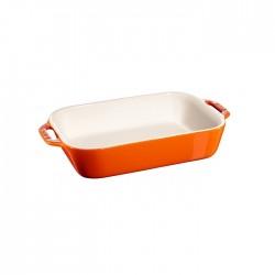 Pirofila in ceramica arancio Cm. 27x20 - Staub