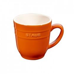 Tazza Ml. 350 in ceramica arancio Cm. 8 - Staub
