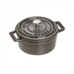 Mini cocotte in ghisa tonda grigio grafite Cm. 10 - Staub