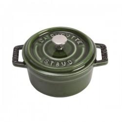 Mini cocotte in ghisa tonda verde basilico Cm. 10 - Staub
