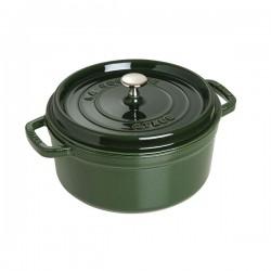 Cocotte in ghisa tonda verde basilico Cm. 24 - Staub
