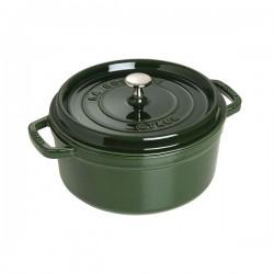 Cocotte in ghisa tonda verde basilico Cm. 26 - Staub