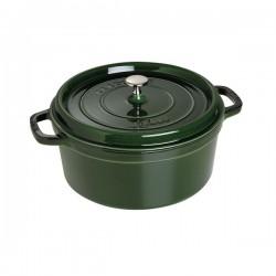 Cocotte in ghisa tonda verde basilico Cm. 28 - Staub