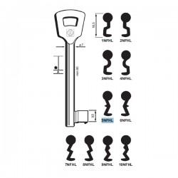 Chiave per porte tagliafuoco, Nemef - 5NFHL - Silca