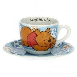 Tazza azzurra con coccinella portafortuna Winnie The Pooh - Thun