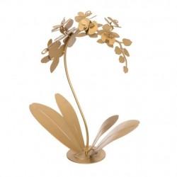 Pianta Orchidea Tavolo, Oro Trasparente - Arti e Mestieri