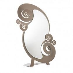 Specchio Circeo Tavolo, Bronzo - Arti e Mestieri