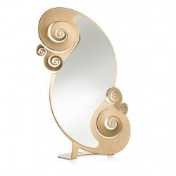 Specchio Circeo Tavolo, Foglia Oro - Arti e Mestieri