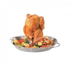Spiedo verticale per pollo e wok per verdure bbq - Gefu