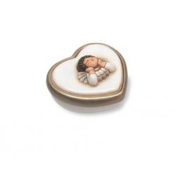 Scatolina cuore testa angelo - Thun