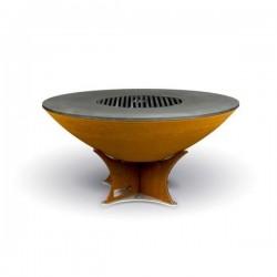 Barbecue e braciere EURO40 Low Base in acciaio corten - Arteflame