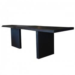 Le petite table noir in legno di cedro italiano vulcanizzato - Grattoni