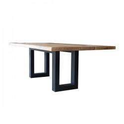 Tavolo in legno italiano a scelta e basi in ferro - Grattoni