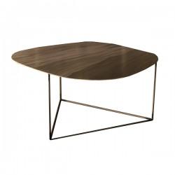 Nu Vo La, tavolino medio con effetto ottone - Grattoni