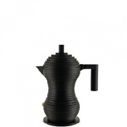 Pulcina, Caffettiera nera Tazze n° 1 - Alessi