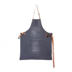 Grembiule BBQ Style Grigio Lavato - Dutchdeluxes
