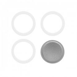 Guarnizione moka + 1 filtro tazze 1/2 gb