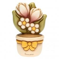 """Vasetto di fiori """"Grazie"""" - Thun"""