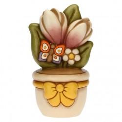 Vasetto grande farfalla e fiori - Thun