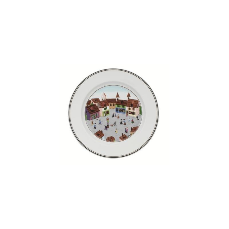 Design naif piatto dessert 21cm villaggio villeroy for Design piatto