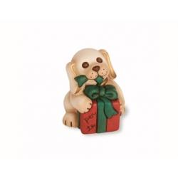 Cane natalizio con dono - Thun