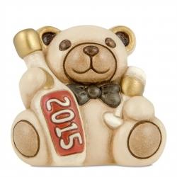 Teddy natalizio con bottiglia di spumante - Thun
