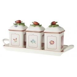 Petite Fleur Charm Marmell. 3pz c. vassoio - Villeroy & Boch