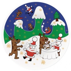 Happy Snowtime, Piatto per panettone - Alessi