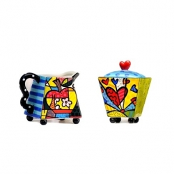 Lattiera e zuccheriera Heart - Romero Britto