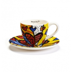 Set tazza tè con piatto A New Day - Romero Britto