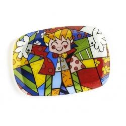 Vassoio ovale vetro Hug - Romero Britto