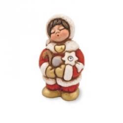 Bimbo Natale con decorazioni - Thun