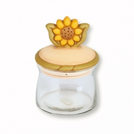 Barattolo in vetro medio country girasole - Thun | Idea Regalo Design