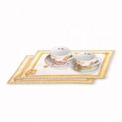 Set 2 tazze cappuccino + 2 tovagliette americane cupcake - Thun