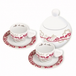 Set 2 tazzine espresso + zuccheriera san valentino - Thun